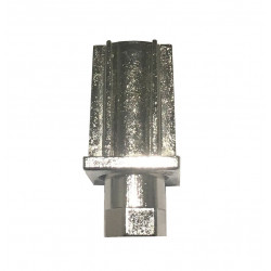 PIED REGLABLE NICKELE ø 22,5 mm