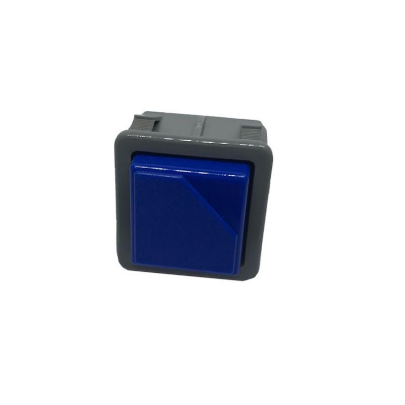 Interrupteur poussoir unipolaire BLEU 250v 16a 28X28 mm