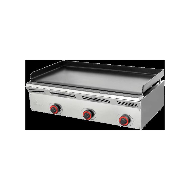 PLANCHA GAZ - PLAQUE TRIPLE ACIER - 90x50x24cm - Epaisseur 8mm